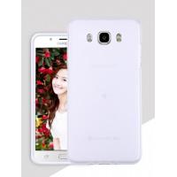 Силиконовый матовый полупрозрачный чехол для Samsung Galaxy J5 (2016) Белый