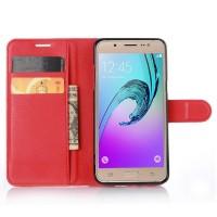 Чехол портмоне подставка с защелкой для Samsung Galaxy J5 (2016) Красный