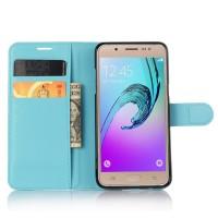 Чехол портмоне подставка с защелкой для Samsung Galaxy J5 (2016) Голубой