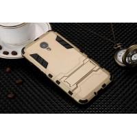 Двухкомпонентный силиконовый чехол с пластиковыми вставками и подставкой для Meizu M3 Note