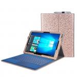 Текстурный чехол подставка с рамочной защитой экрана для Microsoft Surface Pro 4
