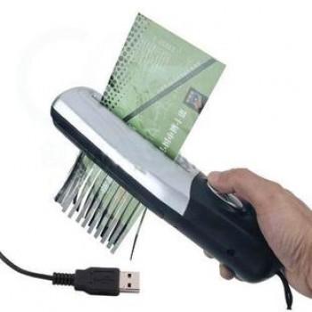 Портативный USB-шредер для формата A6 толщина 3.5 мм