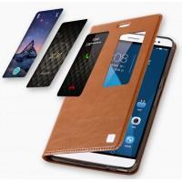 Вощеный чехол подставка с окном вызова на силиконовой основе на присоске для Huawei MediaPad X2