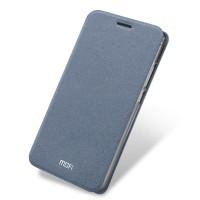 Чехол флип подставка на силиконовой основе для Meizu M3 Note Серый