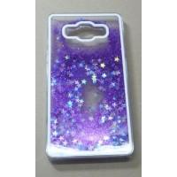 Пластиковый матовый полупрозрачный чехол с внутренней аква аппликацией для Samsung Galaxy A7 Фиолетовый