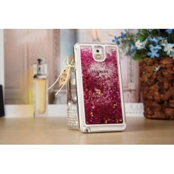 Пластиковый матовый полупрозрачный чехол с внутренней аква аппликацией для Samsung Galaxy Note 3