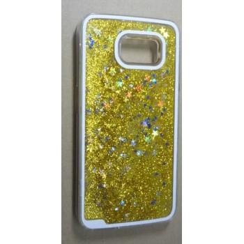Пластиковый матовый полупрозрачный чехол с внутренней аква аппликацией для Samsung Galaxy S6