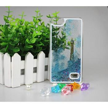 Пластиковый матовый полупрозрачный чехол с внутренней аква аппликацией для Huawei Honor 4C