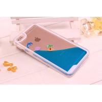 Пластиковый матовый полупрозрачный чехол с внутренней аква аппликацией для Iphone 5/5s/SE