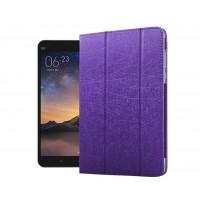 Сегментарный чехол подставка с рамочной защитой экрана текстура Золото для Xiaomi Mi Pad 2 Фиолетовый