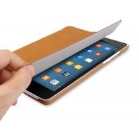 Винтажный чехол смарт флип подставка сегментарный на поликарбонатной основе для Xiaomi Mi Pad 2 Бежевый