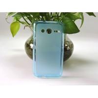 Силиконовый матовый полупрозрачный чехол для Alcatel One Touch Pixi 4 (4) Голубой