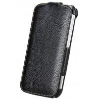 Кожаный чехол вертикальная книжка для Samsung Galaxy K Zoom Черный