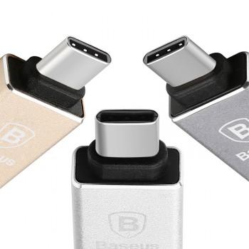 Ультракомпактный премиум переходник Micro USB/USB type C (симметричный) с металлической поверхностью