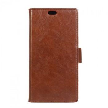 Вощеный чехол портмоне подставка с защелкой для LG K5