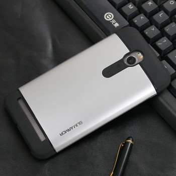 Антиударный гибридный силиконовый чехол с поликарбонатной крышкой для Asus Zenfone 2