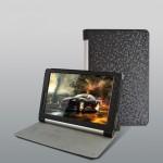 Чехол подставка с рамочной защитой экрана текстура Соты для Lenovo Yoga Tablet 10