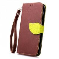 Текстурный чехол портмоне подставка на силиконовой основе с дизайнерской застежкой для Samsung Galaxy S6