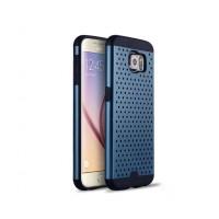 Антиударный гибридный силиконовый чехол с поликарбонатной крышкой текстура Точки для Samsung Galaxy S6