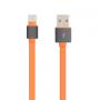 Сверхпрочный силиконовый антизапутывающийся кабель плоского сечения USB 3.1 type-C 1 м