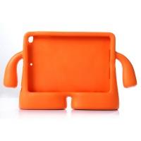 Детский ультразащитный гиппоаллергенный силиконовый фигурный чехол для планшета Ipad Air 2 Оранжевый