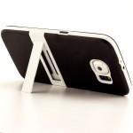 Двухкомпонентный силиконовый чехол с пластиковым бампером и подставкой для Samsung Galaxy S6