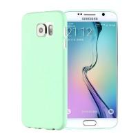 Силиконовый матовый непрозрачный экстратонкий чехол для Samsung Galaxy S6 Зеленый