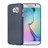 Силиконовый матовый непрозрачный экстратонкий чехол для Samsung Galaxy S6 Синий