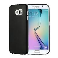 Силиконовый матовый непрозрачный экстратонкий чехол для Samsung Galaxy S6 Черный