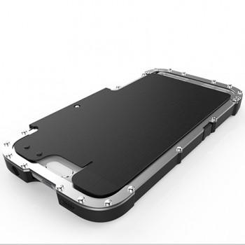 Эксклюзивный многомодульный ультрапротекторный пылевлагозащищенный ударостойкий нескользящий чехол с металлической крышкой для Samsung Galaxy S6