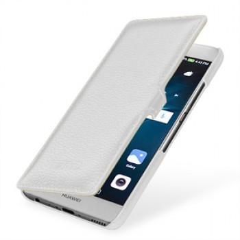 Кожаный чехол горизонтальная книжка (премиум нат. кожа) с крепежной застежкой для Huawei P9