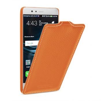 Кожаный чехол вертикальная книжка (премиум нат. кожа) для Huawei P9