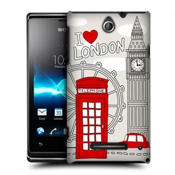 Пластиковый чехол с принтом Столицы для Sony Xperia E dual Лондон