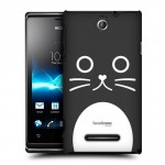 Пластиковый чехол с принтом BlackWhite для Sony Xperia E dual Кошка