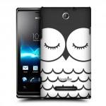 Пластиковый чехол с принтом BlackWhite для Sony Xperia E dual Сова