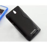 Силиконовый S чехол для Sony Xperia E dual Черный
