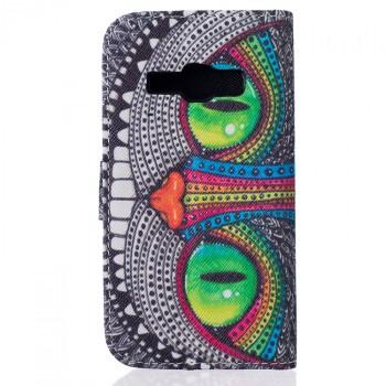 Чехол портмоне подставка на силиконовой основе с полноповерхностным принтом на магнитной защелке для Samsung Galaxy J1 (2016)