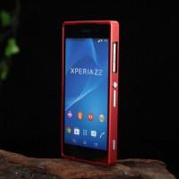 Металлический двухкомпонентный сборный бампер для Sony Xperia Z2 Красный