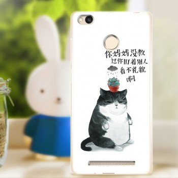 Силиконовый матовый непрозрачный чехол с принтом для Xiaomi RedMi 3 Pro/3S