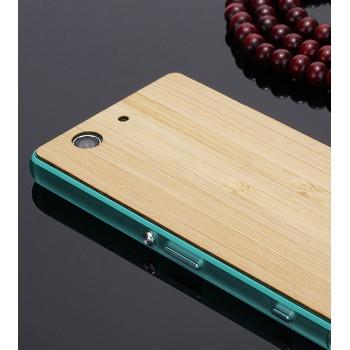 Экстратонкая клеевая натуральная деревянная накладка для Sony Xperia Z3 Compact