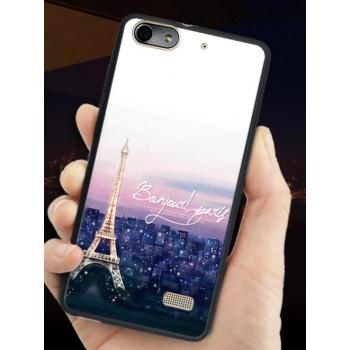 Силиконовый матовый непрозрачный чехол с принтом для Huawei Honor 4C