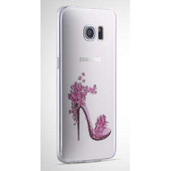 Силиконовый матовый полупрозрачный чехол с принтом для Samsung Galaxy S7