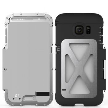 Экстразащитный противоударный чехол алюминий/силикон/поликарбонат с металлической крышкой для Samsung Galaxy S7