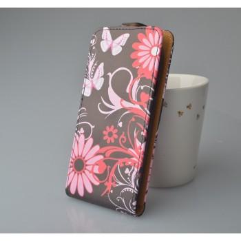 Чехол вертикальная книжка на клеевой основе с полноповерхностным принтом на магнитной защелке для Highscreen Spade