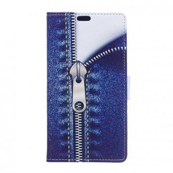 Чехол портмоне подставка на силиконовой основе с полноповерхностным принтом на магнитной защелке для Alcatel OneTouch Go Play