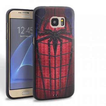 Силиконовый матовый непрозрачный чехол с принтом для Samsung Galaxy S7 Edge