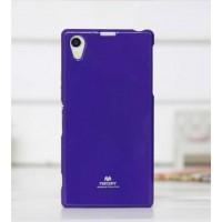 Силиконовый глянцевый чехол для Sony Xperia Z1 Фиолетовый