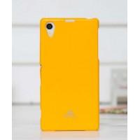 Силиконовый глянцевый чехол для Sony Xperia Z1 Желтый