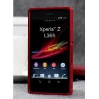 Металлический бампер для Sony Xperia Z Красный
