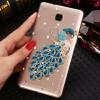 Пластиковый полупрозрачный матовый чехол с аппликацией ручной работы для Huawei Honor 5X
